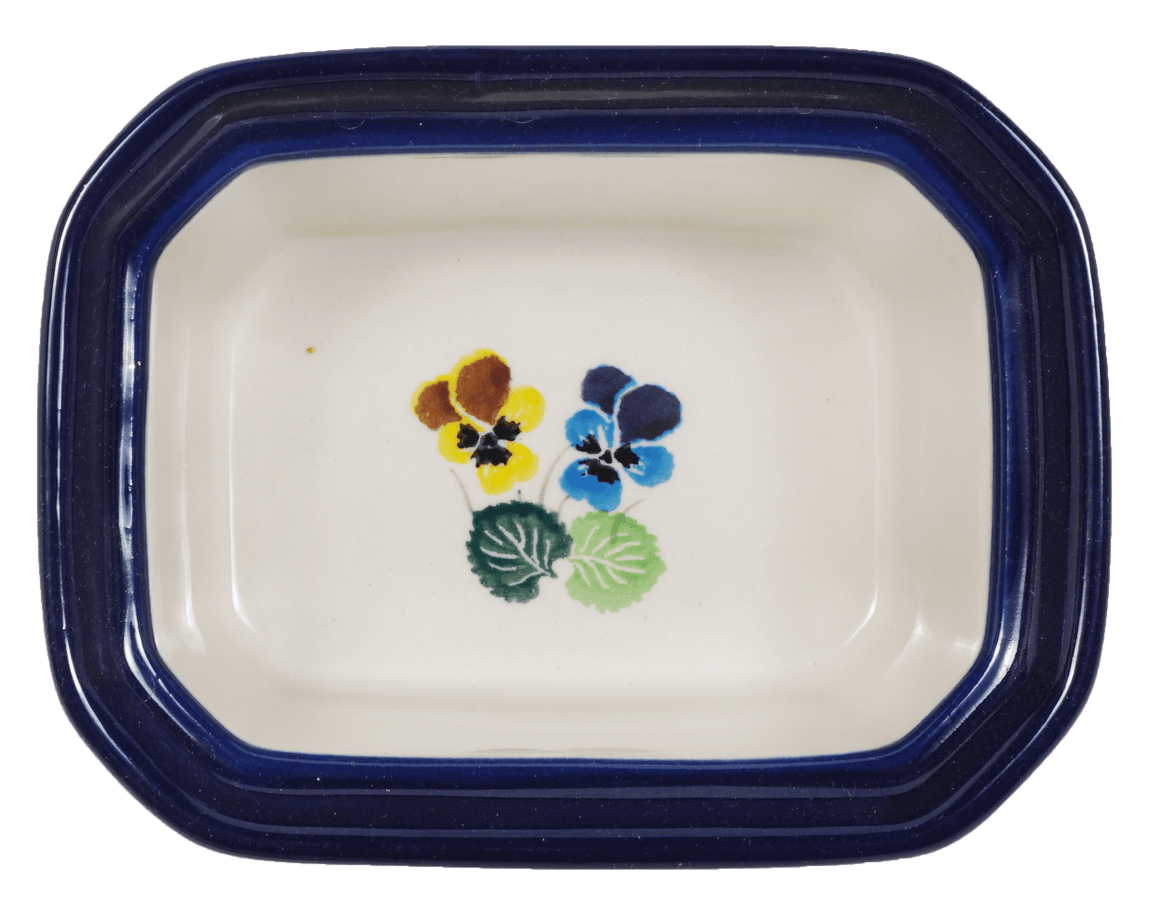 Small Rectangular Canister (Pastel Pansies)