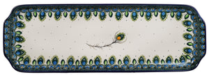 Long Rectangular Tray (Peacock Plume)