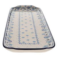Long Rectangular Tray (Pansy Blues)