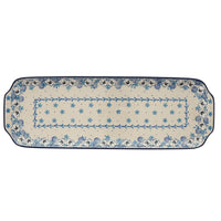 Long Rectangular Tray (Pansy Blues) | A416-2346X