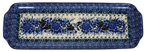 Long Rectangular Tray (Hummingbird Bouquet - Blue)