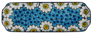 Long Rectangular Tray (Regal Daisies - Blue)