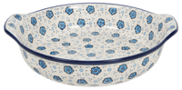 Round Baker with Handles (Floral Blue) | A417-1955