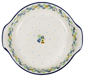 Round Baker with Handles (Pastel Pansies)