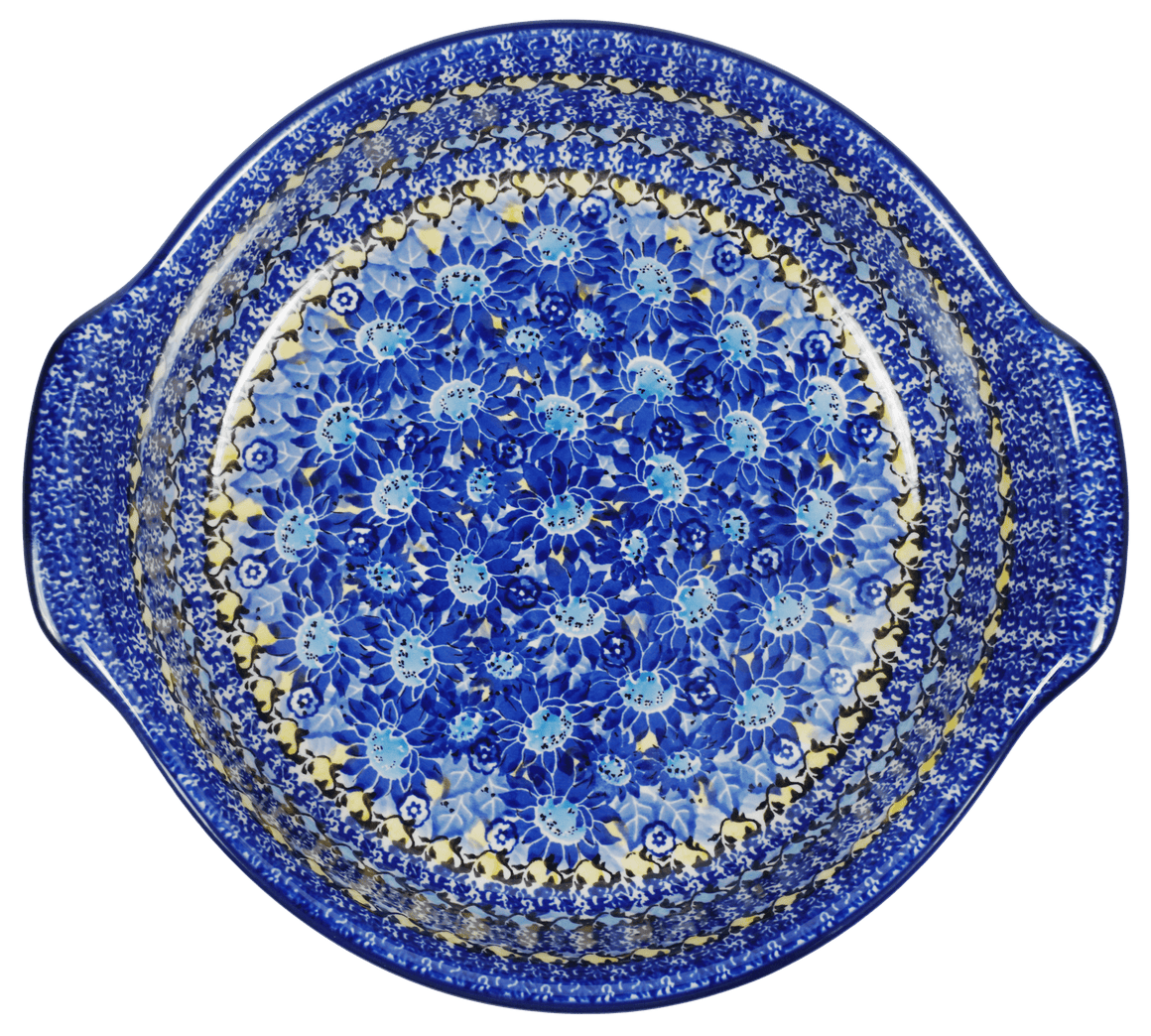 Round Baker with Handles (Sky Flower)