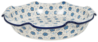 Large Wavy Edge Baker (Floral Blue)