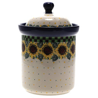 1.3 Liter Canister (Checkered Sunflowers)