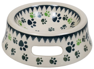 Cat or Small Dog Bowl (Paw Prints)