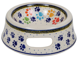 Cat or Small Dog Bowl (Paw Parade)