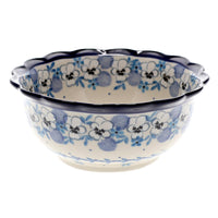 Small Fluted Bowl (Pansy Blues)