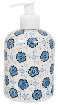 Soap Dispenser (Floral Blue)