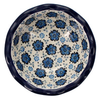 "5"" Fancy Edge Bowl (Floral Blue)"