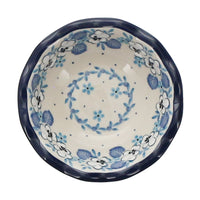 "5"" Fancy Edge Bowl (Pansy Blues) 