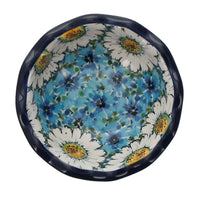 "5"" Fancy Edge Bowl (Regal Daisies - Blue)"