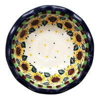 "5"" Fancy Edge Bowl (Checkered Sunflowers)"