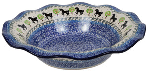 "13"" Fluted Bowl (Black Stallion)"