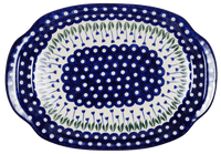 Oval Tray with Handles (Tulip Dot)