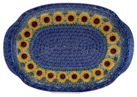 Oval Tray with Handles (Sunflowers)