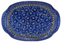 Oval Tray with Handles (Sky Flower)
