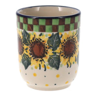 Wine Cup (Checkered Sunflowers)