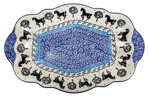 "11"" x 7"" Fancy Tray (Black Stallion)"