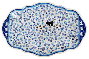 "13.5"" x 9"" Fancy Platter (Cat Tracks)"