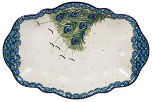"13.5"" x 9"" Fancy Platter (Peacock Fan)"