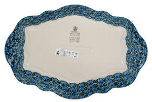 "13.5"" x 9"" Fancy Platter (Teal Sensation)"