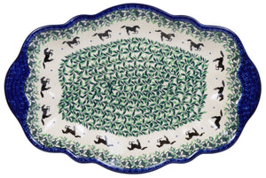 "13.5"" x 9"" Fancy Platter (Race Track)"