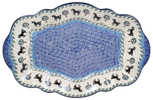 "16"" x 10.5"" Fancy Platter (Black Stallion)"
