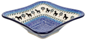 "10"" Square Bowl (Black Stallion)"