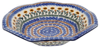 "13.5"" Fluted Bowl (Sunflower Salute) 