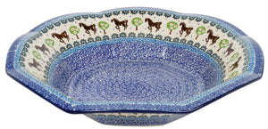 "13.5"" Fluted Bowl (Brown Stallion)"