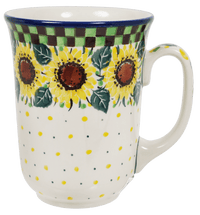 Bistro Mug (Checkered Sunflowers)