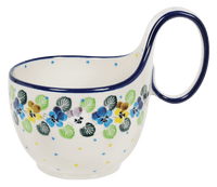 Loop Handle Bowl (Pastel Pansies)