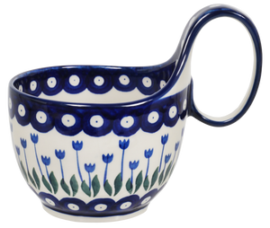 Loop Handle Bowl (Tulip Dot)