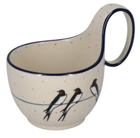 Loop Handle Bowl (Birds on a Wire)