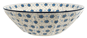 "13.25"" Serving Bowl (Floral Blue)"