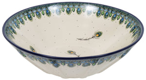 "13.25"" Serving Bowl (Peacock Plume)"
