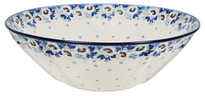 "13.25"" Serving Bowl (Snow White Anemone)"