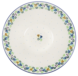"13.25"" Serving Bowl (Pastel Pansies)"