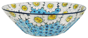 "13.25"" Serving Bowl (Regal Daisies - Blue)"
