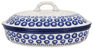 Covered Oval Casserole (Daisy Craze)