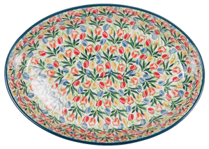 Covered Oval Casserole (Tulip Burst)