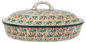 Large Covered Casserole (Tulip Burst)