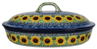 Large Covered Casserole (Sunflowers)