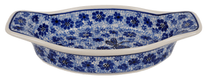 "9.5"" x 4.75"" Casserole W/Handles (Dragonfly on Blue)"
