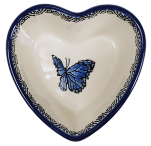 Small Heart Bowl (Butterfly on Blue)