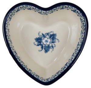 Small Heart Bowl (White Anemone)