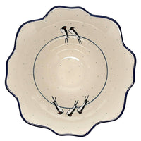 "8"" Ornate Flared Bowl (Birds on a Wire)"